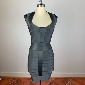 French Connection Grey Bodycon Dress